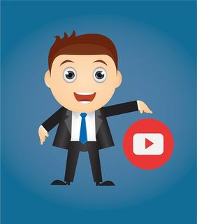 man met youtube logo