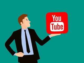 persoon met youtube logo