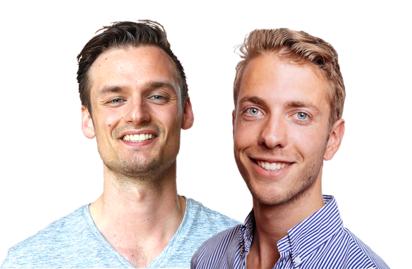 Derek Westra en Patrick Suiker